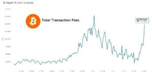 Bitcoin fees spike to nearly $3 per transaction