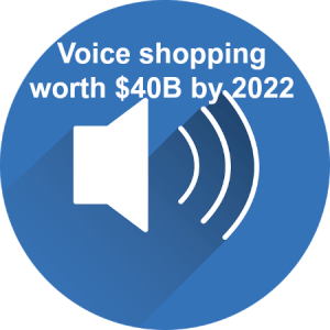 By 2022, voice shopping worth $40 billion