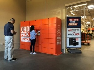 Home Depot lockers for consumer pickup