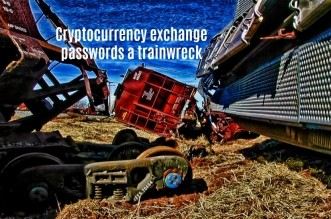 Password trainwreck for cryptocurrency exchanges