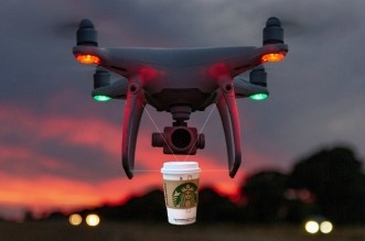 IBM drone-delivery of coffee