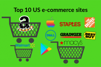 2018 Top 10 US e-commerce sales