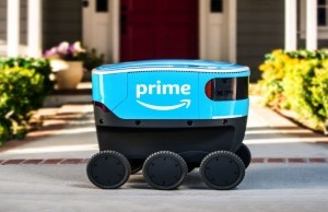 Amazon Scout robot delivery