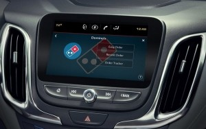 Domino's adds in-car pizza ordering.