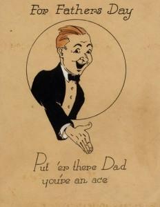 1920s Hallmark Father's Day card