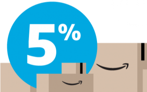 Amazon Prime members get 5% cashback