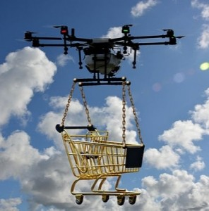 drone with cart