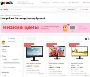 Russian marketplace site Goods.ru is growing fast