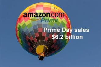 Prime Day sales hit $6.2 billion
