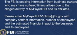 FBI investigating MyPayrollHR fraud
