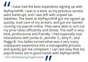 MyPayrollHR client testimonial