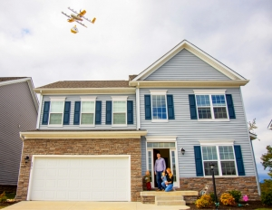 Collver family drone delivery in Christiansburg