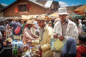 shopping in a Madagascar market
